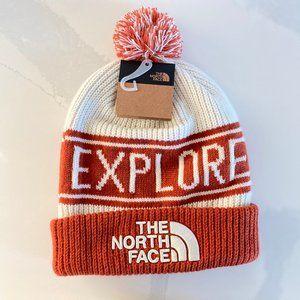 NWT - The North Face Beanie w/ Pom Retro Style OS